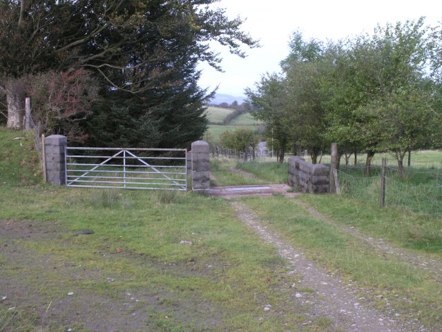 Cattle grid on farm track