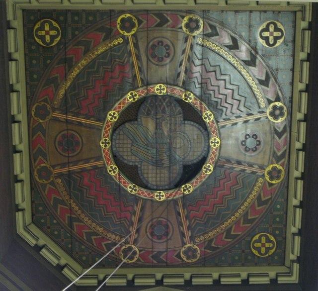 All Saints Church, Margaret Street, W1 - baptistry ceiling