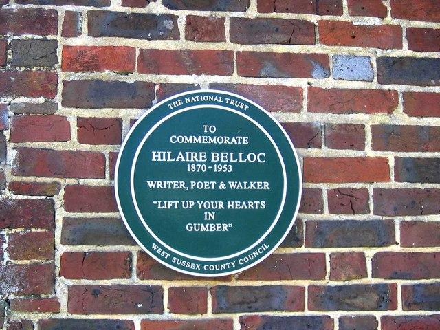 Belloc Plaque at Gumber Farm