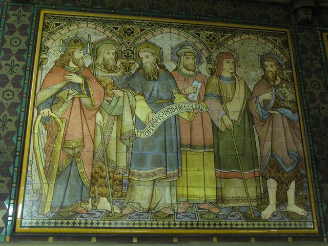 All Saints Church, Margaret Street, W1 - tiled panel (2)