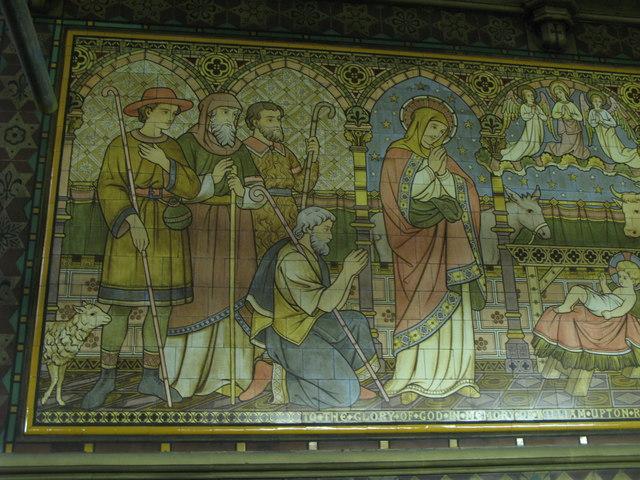 All Saints Church, Margaret Street, W1 - tiled panel (3b)