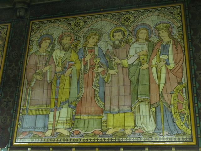 All Saints Church, Margaret Street, W1 - tiled panel (4)