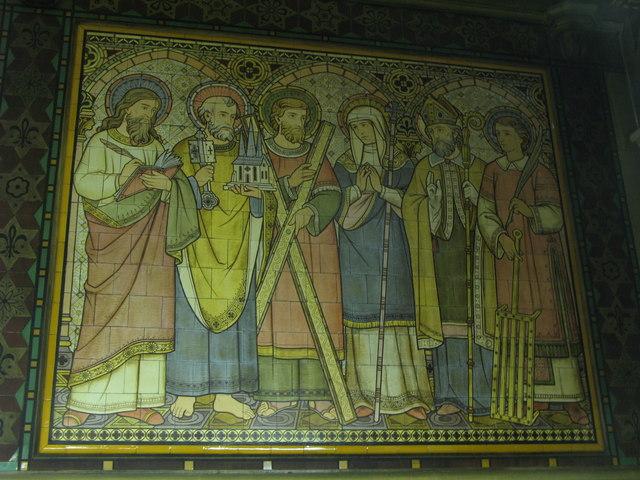 All Saints Church, Margaret Street, W1 - tiled panel (5)