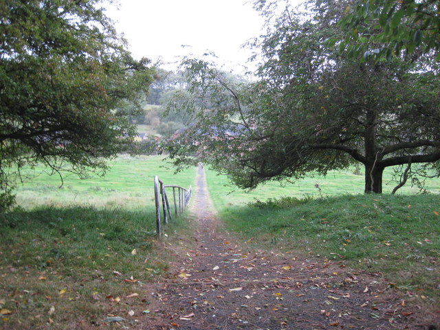 Path from church to village