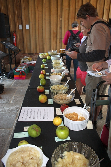Cooked apple tasting, Hellens, Much Marcle