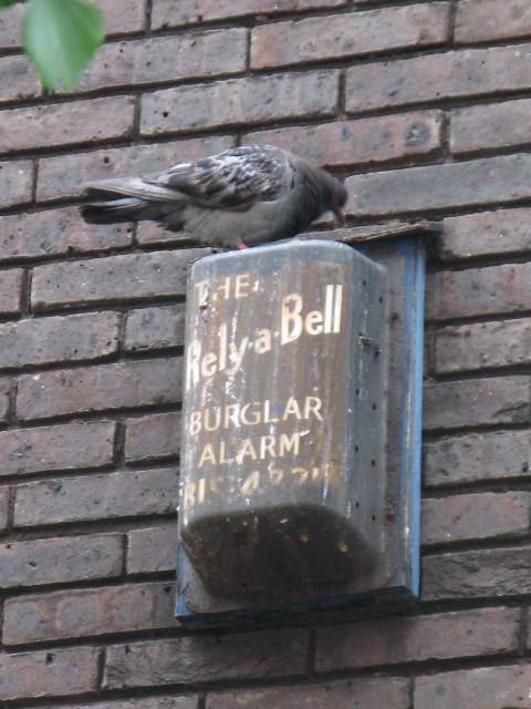 "The ""Rely-a-Bell"" burglar alarm (geddit?)"