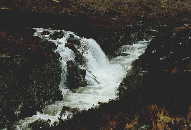 Waterfall on the Allt Toll a' Mhadaidh