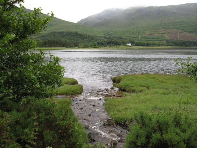 Stream entering Loch Creran