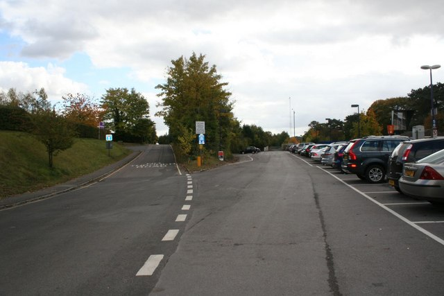 Car park on the right