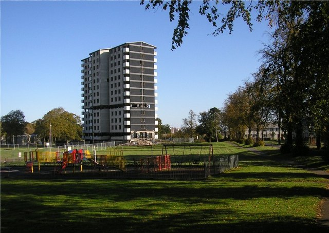 Play area next to Gracemount multi-storey flats