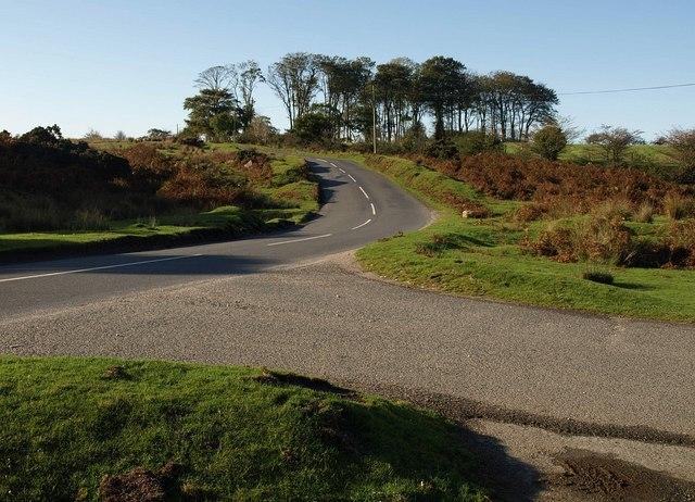 Road near Cadover Bridge