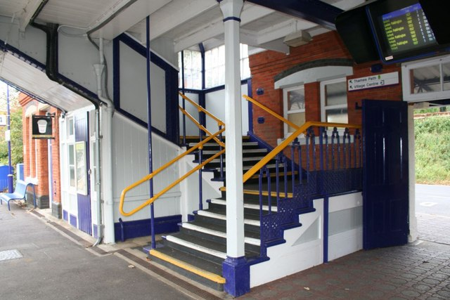 Stairs to the platforms