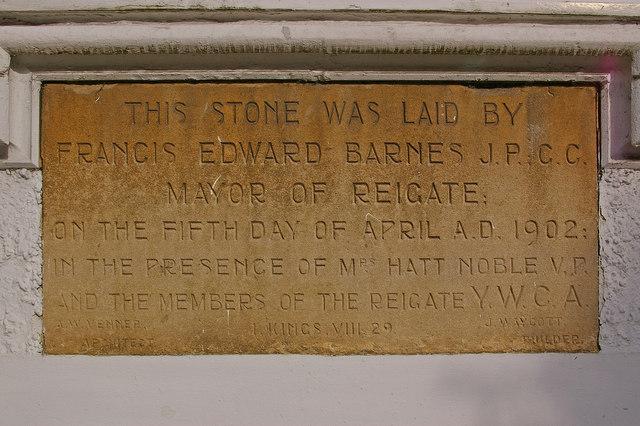 Foundation stone for Wayside
