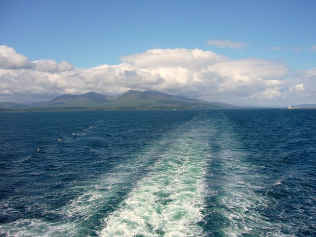 View from Isle of Mull to Oban ferry.