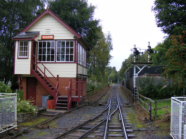 Signal Box at Alston Station