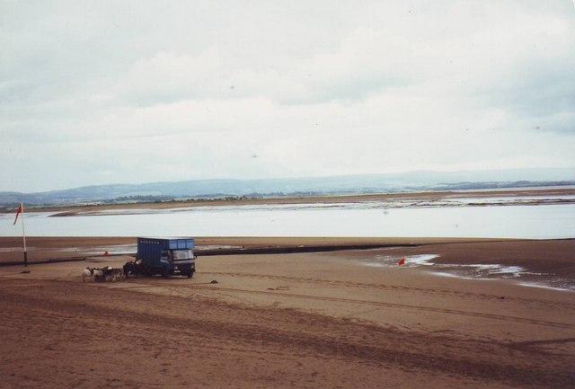 The beach at Burnham on Sea