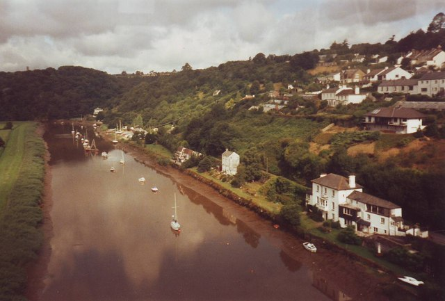 The River Tamar from Calstock viaduct, Cornwall and Devon