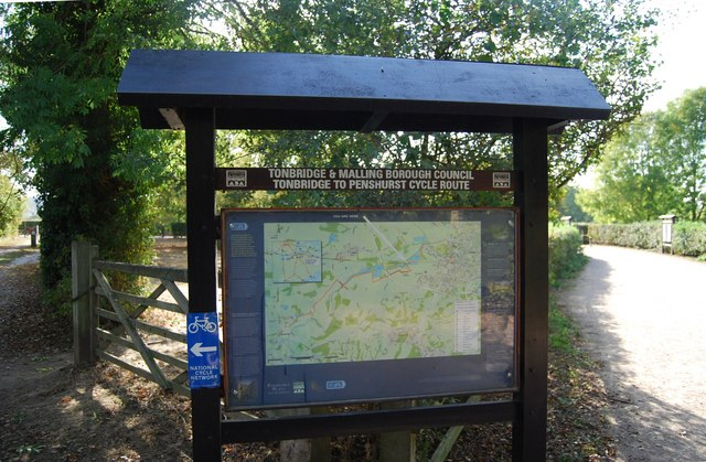 Information on a National Cycleway, Haysden Country Park
