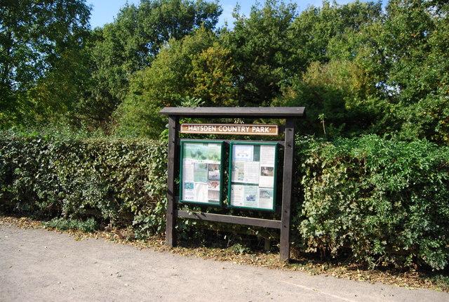 Information Board, Haysden Country Park
