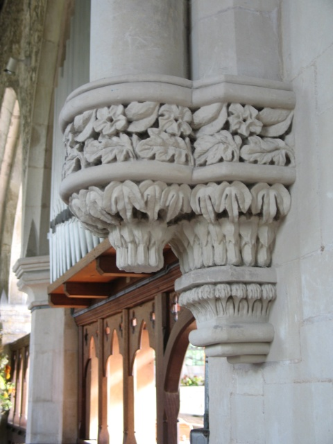 Stone Carving, All Saints Church at Marsworth