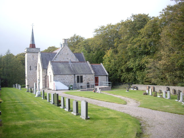Pluscarden kirk and kirkyard