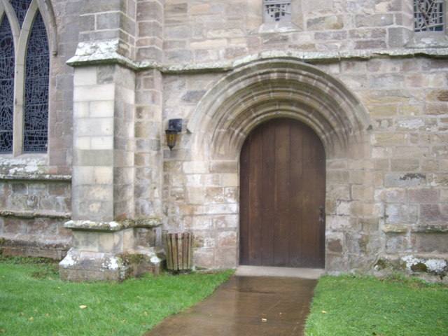 A door to Pluscarden Abbey