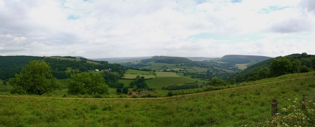 Hawnby Panorama from above Peak Scar
