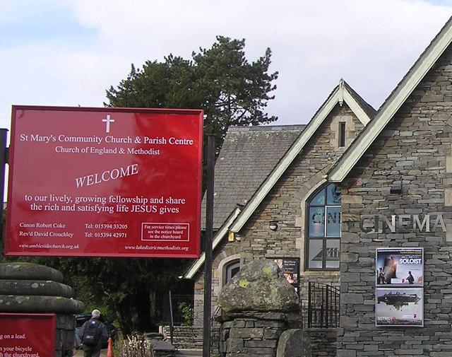 Notice board, St Mary's Community Church