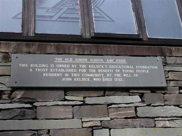 Inscription stone, The Old Junior School