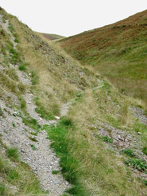 Bridleway up Cwm Gwrach, Powys