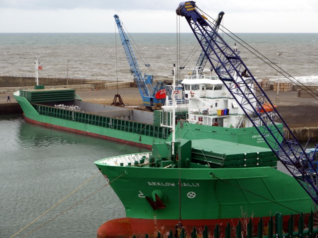 Arklow freighters in Seaham Inner Harbour
