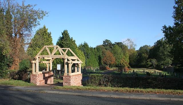 New lych gate, Welland cemetery