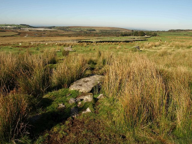 Slab across watercourse, Trowlesworthy Warren