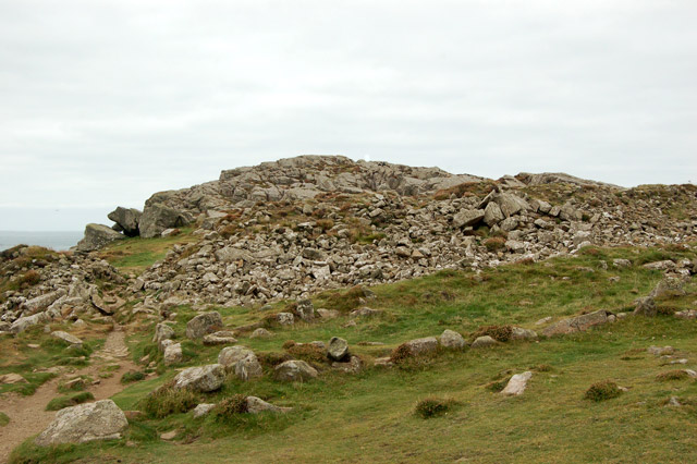 Rampart remains of Iron Age fort, St Davids Head