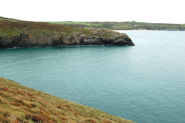 Looking southeast to Penlledwen headland from St Davids Head