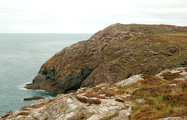 View north from the tip of St Davids Head
