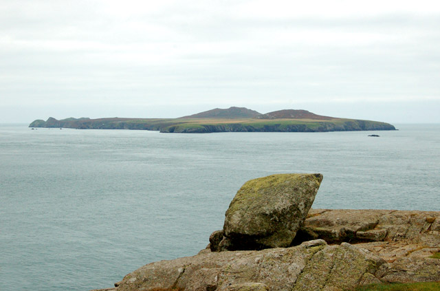 Ramsey Island viewed from the tip of St Davids Head