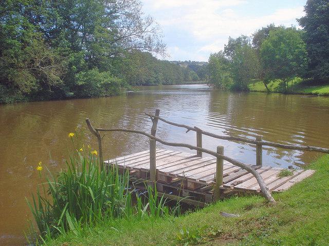 Fishing stand at Harleton Water
