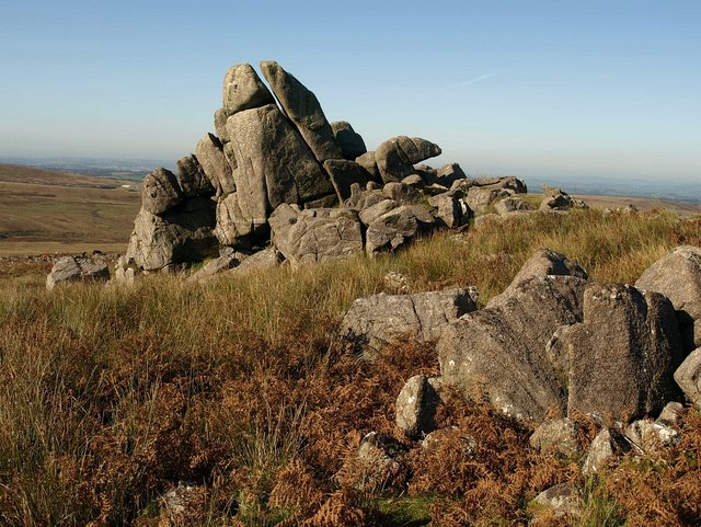 Rocks at Great Trowlesworthy Tor