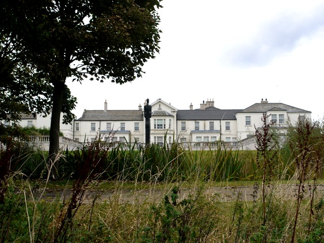 The rear of Seaham Hall Hotel