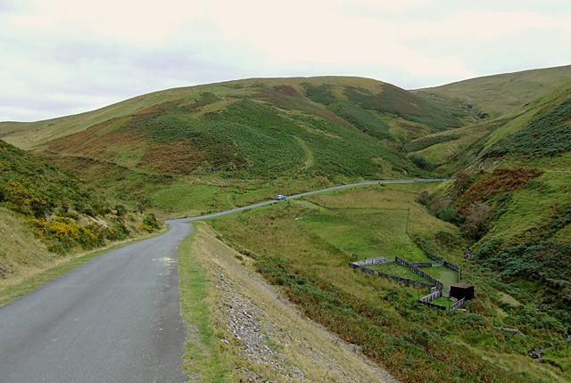 Road round Cwm Gwrach, Powys