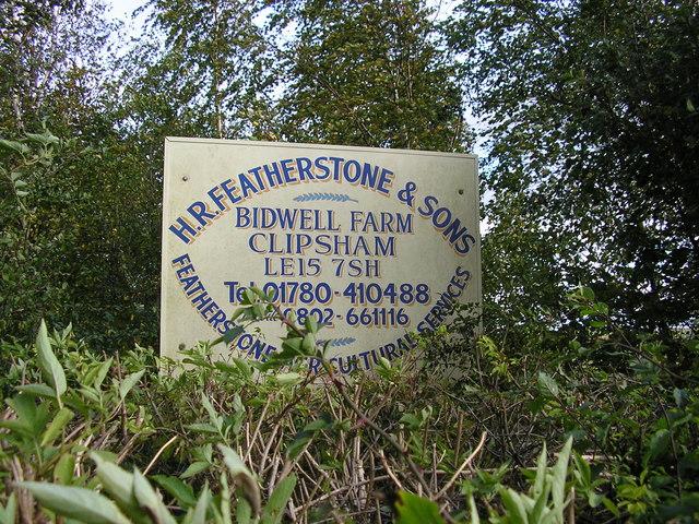 Bidwell Farm Sign, Clipsham