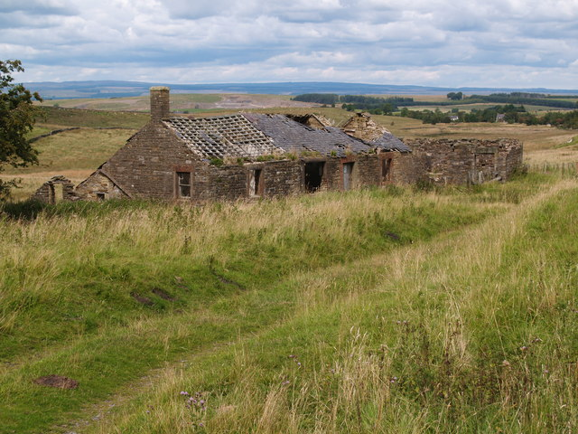 Ruined building at Howgill old quarry