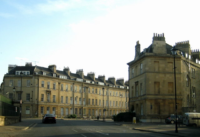 The eastern end of Great Pulteney Street