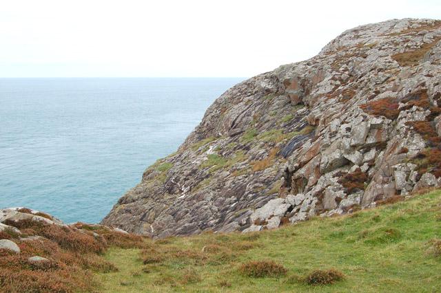 Coastal scenery north of St Davids Head