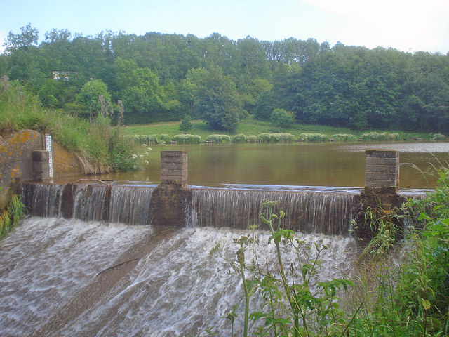 Weir at Hartleton Water - 1