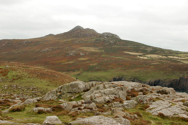 Carn Llidi seen from the coastpath east of St Davids Head