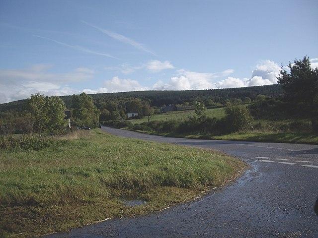 Road junction near Briach