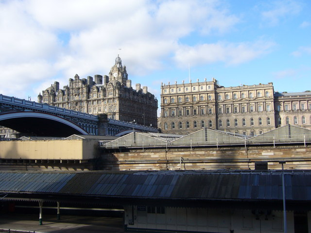 View over Waverley Station, East Market Street
