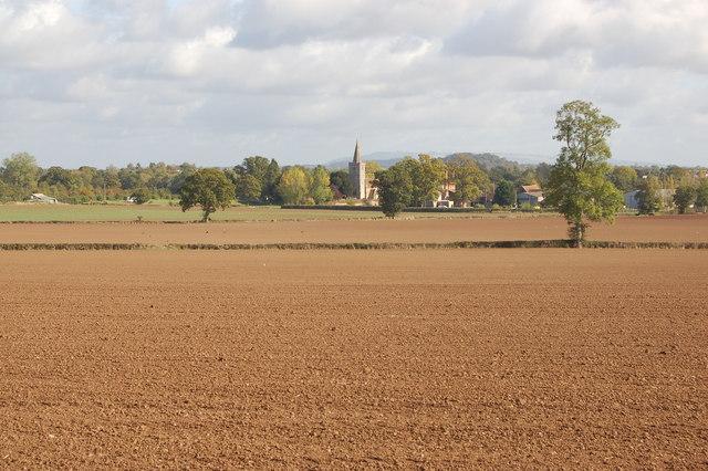 Ploughed fields near Brierley Grange
